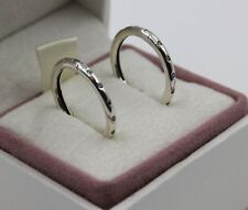PANDORA Genuine Silver Droplets Hoop Earrings - 296244CZ