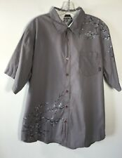 Billabong Button Front Short Sleeve Shirt Slim Fit Men's XL