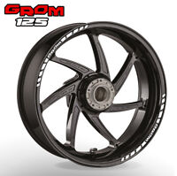 HONDA GROM  125 wheel rim stickers decals - choice of 20 colours - abs