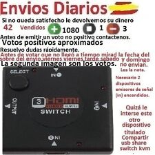 Multipuerto HDMI Switch de 3 puertos 1080P Ladron Splitter hub HDTV PS3 PS4 PC