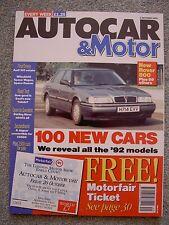 Autocar (2 Oct 1991) Seat Toledo GTi, Panhard 24CT, Space Runner, Audi 100, XJ6