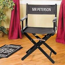 Folding Director's Chair Free Personalized Canvas Seat Hollywood Theme Chairs