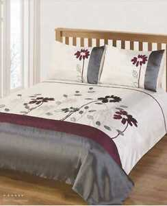 Superior Quality Floral Duvet Quilt Cover Bedding Set White Single Double King