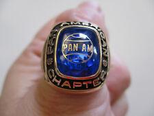 vintage 1970 -1980 Pan Am Airline Flight Engineer Ring Pilot FEIA 10k Gold Ring