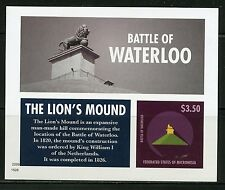 NEVER BEFORE OFFERED RARE MICRONESIA BATTLE OF WATERLOO S/S  IMPERFORATE MINT NH