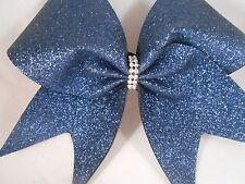 Cheer Bow Navy Glitter by BlingItOnCheerBowz