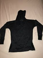 Athleta Hooded Knit Top Pullover Black Size XSmall