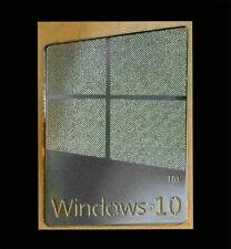 Windows 10 Silver Chrome Metallic Sticker 16 x 22.5mm