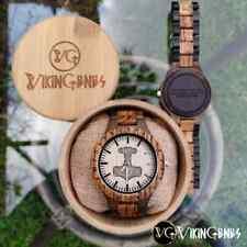 Thor's Hammer (Mjolnir) Handmade Viking Wooden Watch
