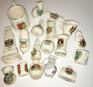 CRESTED WARE CHINA PORCELAIN GOSS, WILLOW ART, SHELLEY, ARCADIAN 18 STYLES