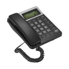 LCD Display Caller Corded Phone Big Button Landline Desktop Telephone US T5V8