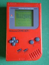Nintendo GAME BOY Classique ROUGE 1e Génération Fat Console Portable + Alleyway