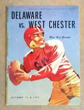 WESTCHESTER (NY) @ UNIVERSITY OF DELAWARE COLLEGE FOOTBALL PROGRAM - 1952 - VG/E