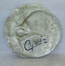 Pot Metal ashtray or Tray Diving Pelican and Frogs  CAPRI Very Old