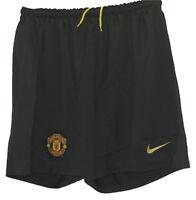 New NIKE MANCHESTER UNITED Football Club Goalkeeper Shorts Black (Mens) Medium