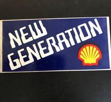 SHELL NEW GENERATION Vintage 1980's Sticker Service Station Garage