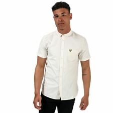 Men's Lyle And Scott Oxford Short Sleeve Regular Fit Cotton Shirt in White