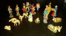 A lovely set of 20 vintage Nativity scene figures  (Italian Presepe)