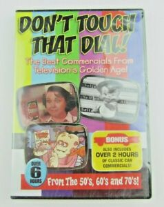 Don't Touch That Dial (DVD, 2009, 2-Disc Set) TV's Golden Age Commercials - NEW