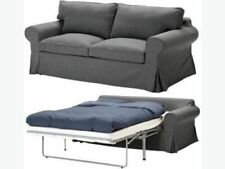 New ORIGINAL IKEA Cover set Ektorp 2 seat sofa bed sofabed Svanby Grey RARE!!