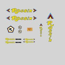 Rossin Record Decals-Transfers-Stickers - Yellow #9