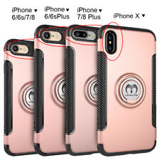 For iPhone X 8 6 6S 7 iphone8 Plus Ring Stand Protective Hybrid Slim Case Cover