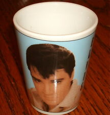 ELVIS PRESLEY CERAMIC SHOT GLASS WITH PORTRAIT!  NEW!