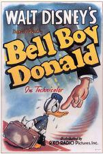 Bell Boy Donald Disney cartoon movie poster