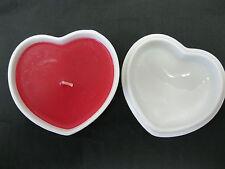 Takahashi Ceramic Porcelain Heart w/Candle Decorated Trinket Box w/Lid Vintage?