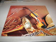 TULARE COUNTY ELEMENTARY FINE ARTS FESTIVAL 1965 LP NM Century Custom 21479