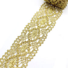 1 Yard Golden Lace Fabric Wedding Dress Lace Applique Embroidery Lace Trim