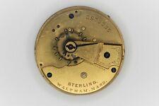 Waltham Grade Sterling Pocketwatch Movement 18S 7J Model Parts/Repair SN#2573385
