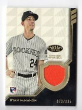 RYAN McMAHON MLB 2018 TOPPS TIER ONE LEGEND RELICS (COLORADO ROCKIES) #/335