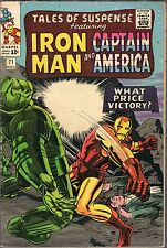 "TALES OF SUSPENSE #71-1965-IRON MAN & CAPTAIN AMERICA-""WHAT PRICE VICTORY?"""
