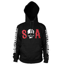 Officially Licensed Sons of Anarchy S-O-A Hoodie S-XXL Sizes