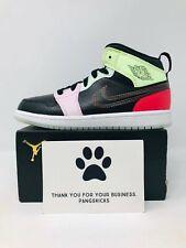 Nike Air Jordan 1 Mid Se 'Glow in the Dark' Av5173-076 Ps Size 2Y