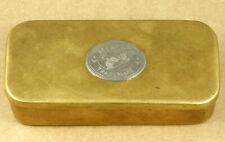 Mermaid Trademark Brass Tobacco Case Box