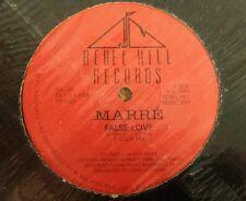 """False Love by Marrè 12"""" Freestyle Pristine Condition Rebel Hill Records"""
