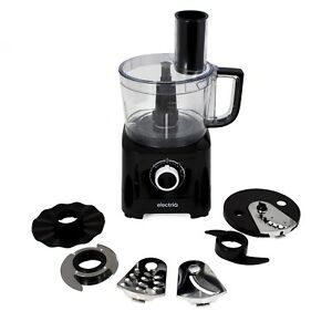 electriQ 6-in-1 700W Multifunctional Compact Food Processor - Stainless Steel &
