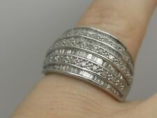 Fabulous 1+ Carat of Diamonds Sparkly half eternity Cocktail Ring Size L