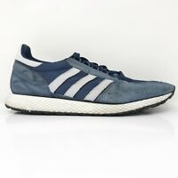 Adidas Mens Frost Grove D96630 Blue White Running Shoes Lace Up Low Top Sz 10.5