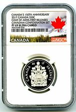2017 CANADA 150TH ANNV 50 CENT NGC PF69 FR SILVER PROOF COAT OF ARMS HALF DOLLAR