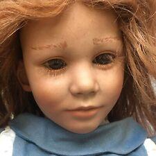 "Annette Himstedt American Heartland Series ""Toni"" 21"" doll vinyl/cloth Good Deal"