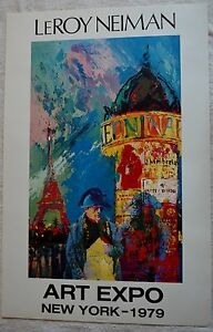 LEROY NEIMAN NAPOLEAN 1977 ORIGINAL POSTER NEW YORK ART EXPO W/COA 34 5/8X22 3/4