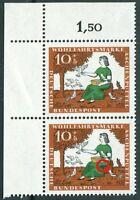 Bund 485 I postfrisch Plattenfehler PF grüner Fleck in Rockfalten Eckrand Paar