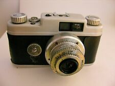 Vintage Argus Rangefinder Camera + Lens WORKS Clean Art Deco