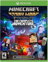 NEW Minecraft: Story Mode -- The Complete Adventure (Microsoft Xbox One, 2016)