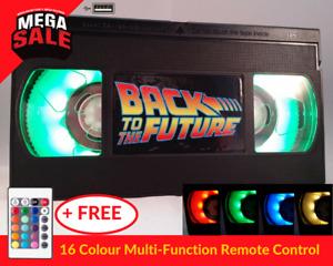 📼 Retro USB VHS Lamp   Xmas Present, Back to the Future Gift +16 Colour Remote