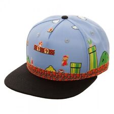 Nintendo Super Mario 8Bit All Over Scene Retro Snapback Cap Hat Licensed NEW!