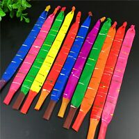 50 Mixed Color Long Latex Rocket Balloon Flying Squeaking with Pump Party Kids